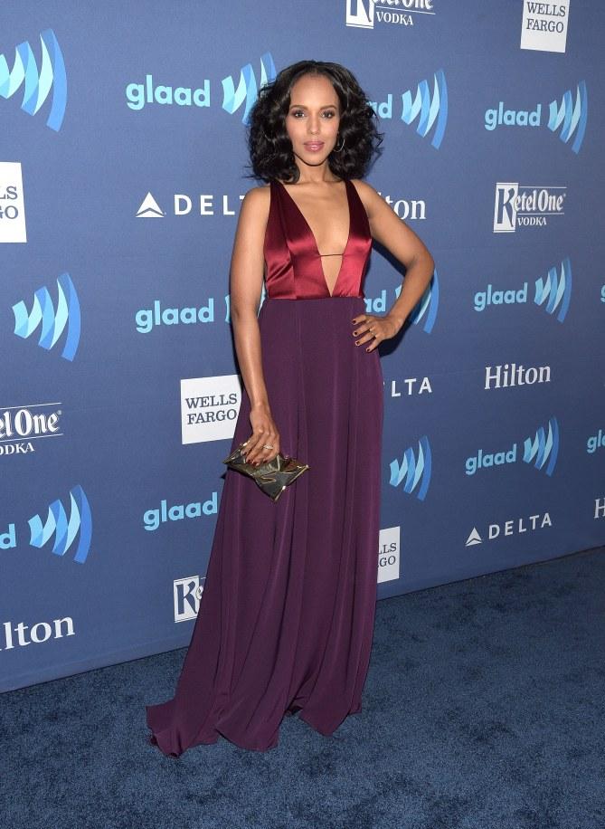 Kerry Washington aux Glaad Media Awards.
