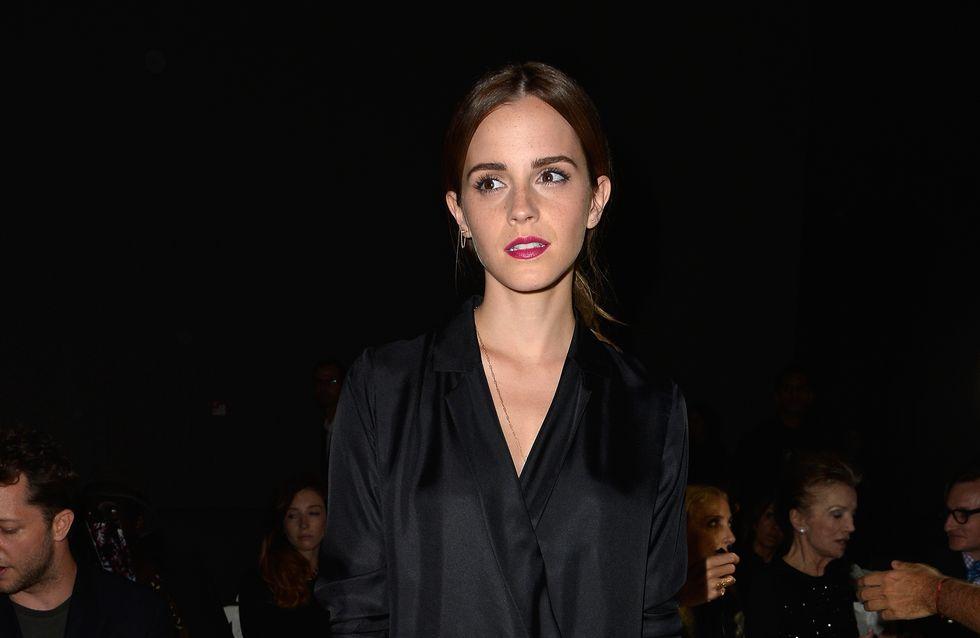On copie le total look black d'Emma Watson