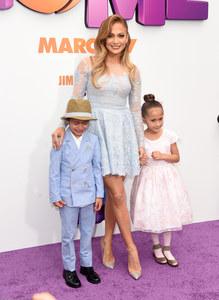 Jennifer Lopez et ses enfants.