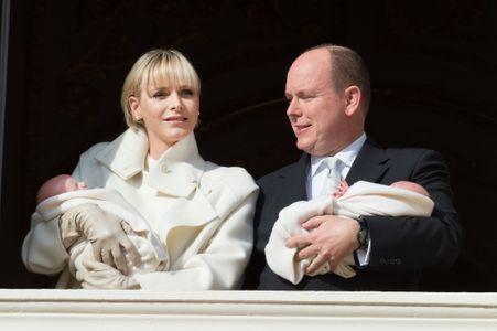 Charlène de Monaco, Albert II et leurs jumeaux