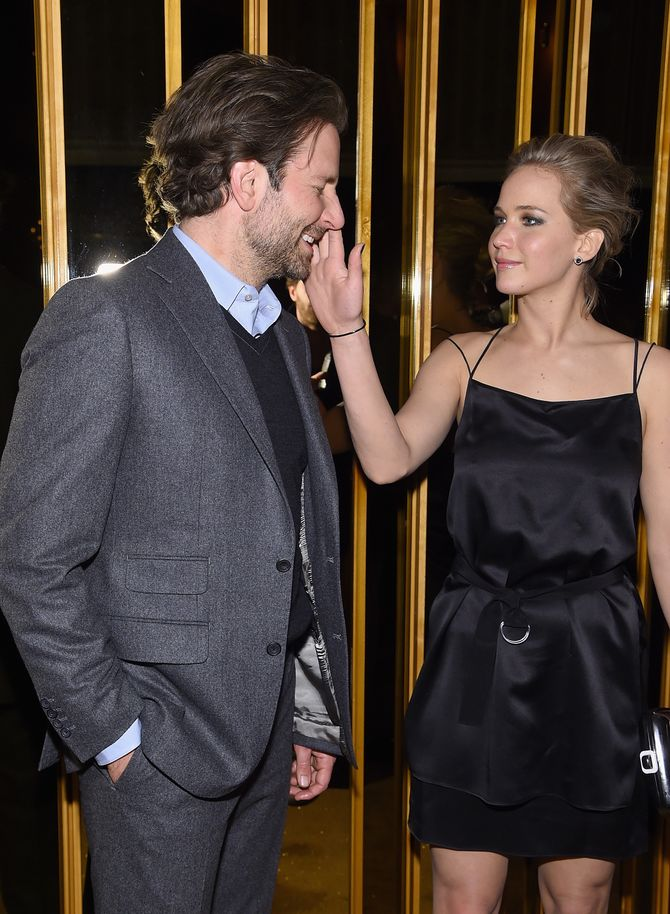 Bradley Cooper et Jennifer Lawrence complices.