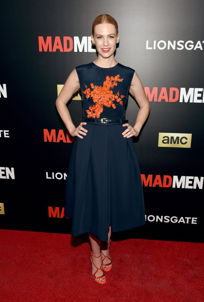 January Jones à la projection Mad Men.