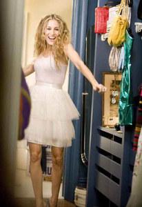 Sarah Jessica Parker, alias Carrie Bradshaw dans Sex & the city