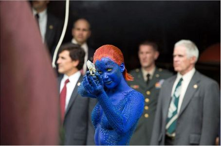 Jennifer Lawrence dans une scène de X-Men.