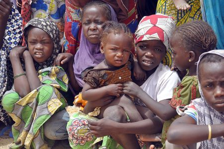 Des enfants ayant fui les Boko Haram au Nigéria