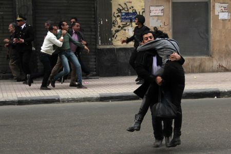 Shaïmaa al Sabbagh, secourue par un ami
