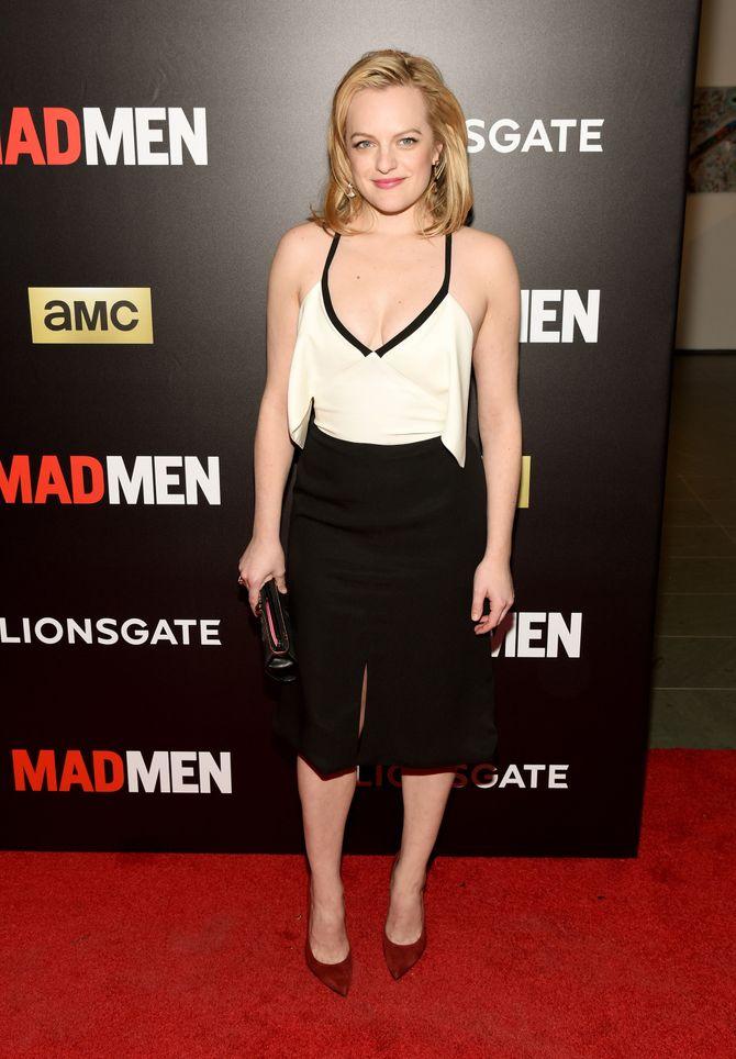 Elisabeth Moss à la projection de Mad Men.
