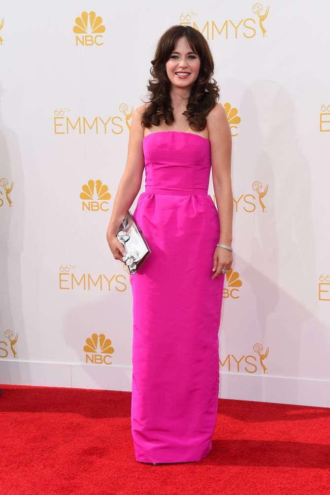 Zooey Deschanel aux Emmy.