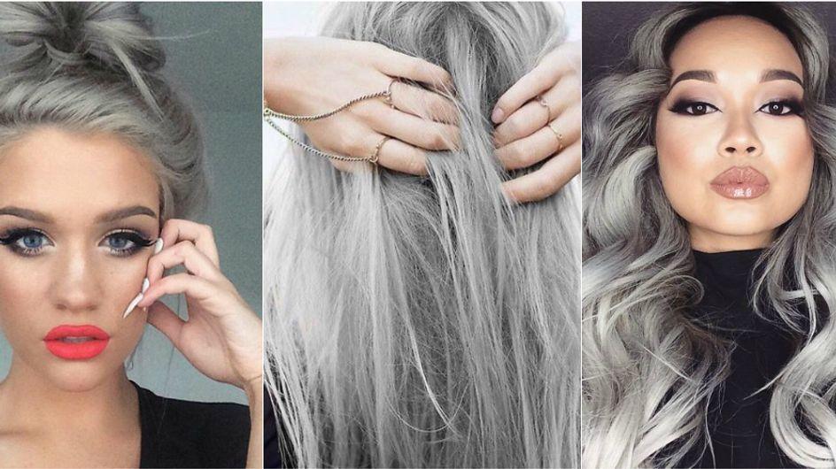 A nova mania agora é pintar o cabelo... de cinza!
