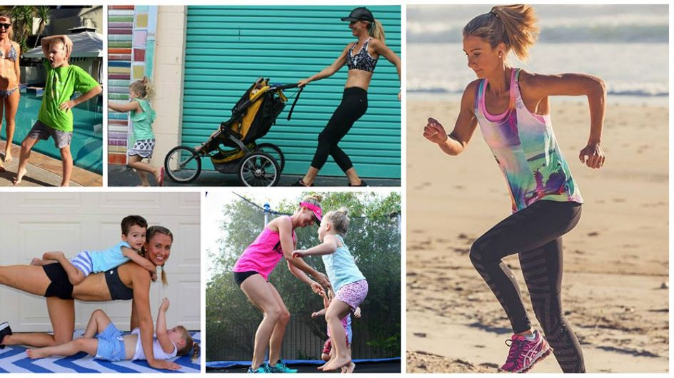 Cette jeune maman a transformé ses séances de gym en terrain de jeux pour ses enfants