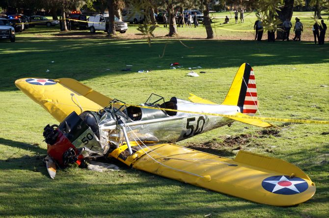La avioneta de Harrison Ford