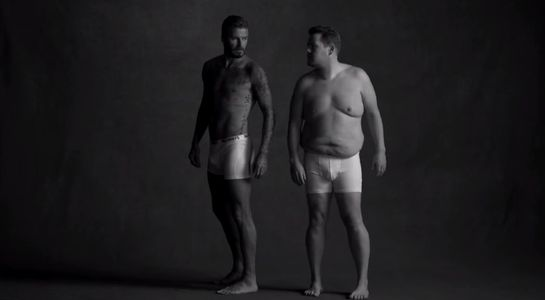 David Beckham et James Corden
