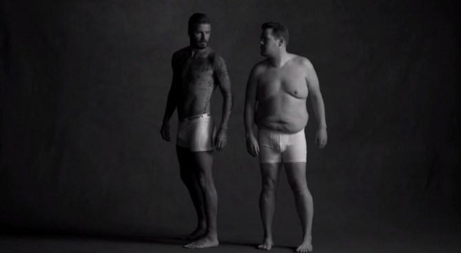 David Beckham et James Corden