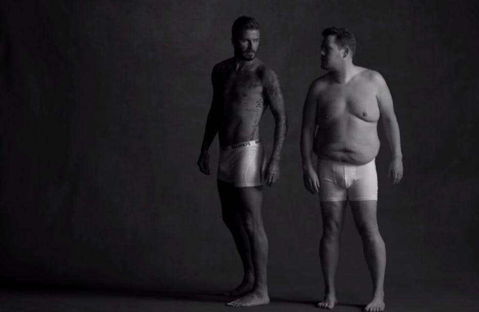 David Beckham en sous-vêtements pour une pub parodique (Vidéo)