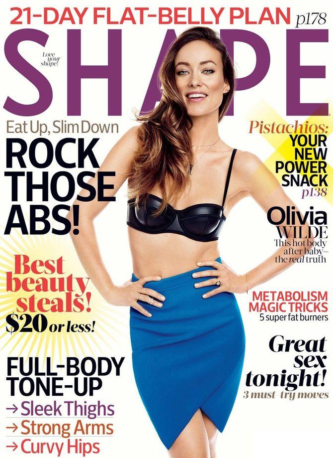 Olivia Wilde en couverture de Shape
