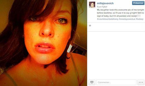 Milla Jovovich, future maman impatiente