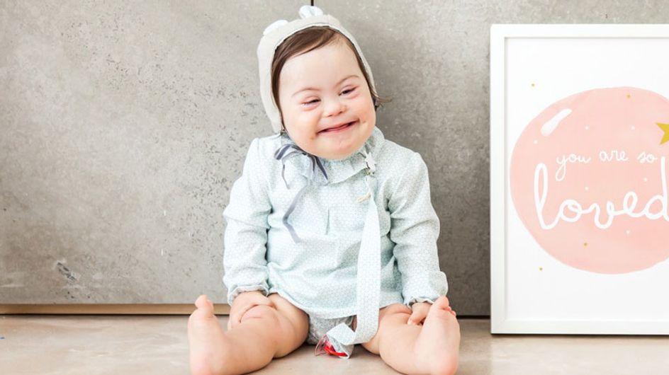 La entrañable historia de Clara, un bebé con síndrome de Down que se ha convertido en modelo