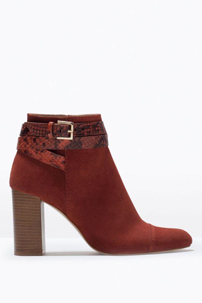 Schuhe mit Blockabsätze in Holzoptik sind ideal zu Schlaghosen