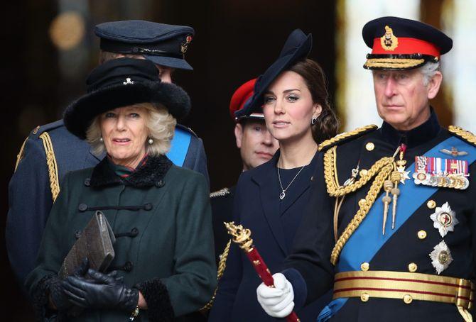 Kate Middleton, le prince Charles et Camilla