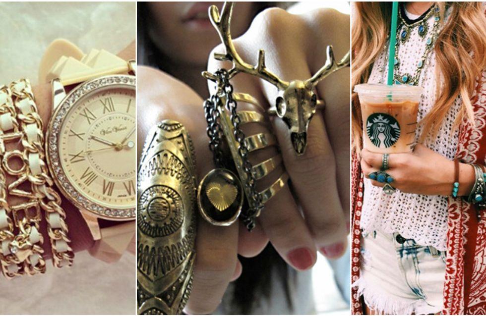 È arrivata una nuova tendenza: i gioielli sovrapposti. Scopri 50 modi per abbinarli!