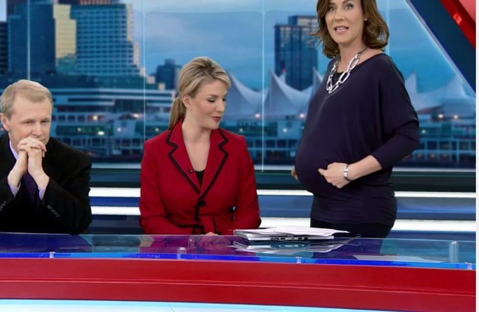 La femme de la semaine : Une présentatrice météo enceinte répond aux insultes à l'antenne