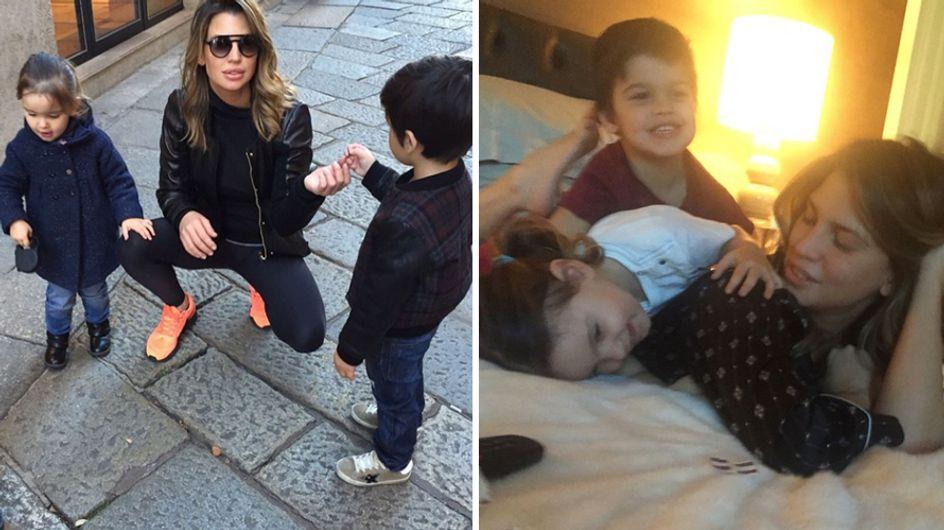 Claudia Galanti torna a sorridere: le immagini più dolci della showgirl con i due figli!