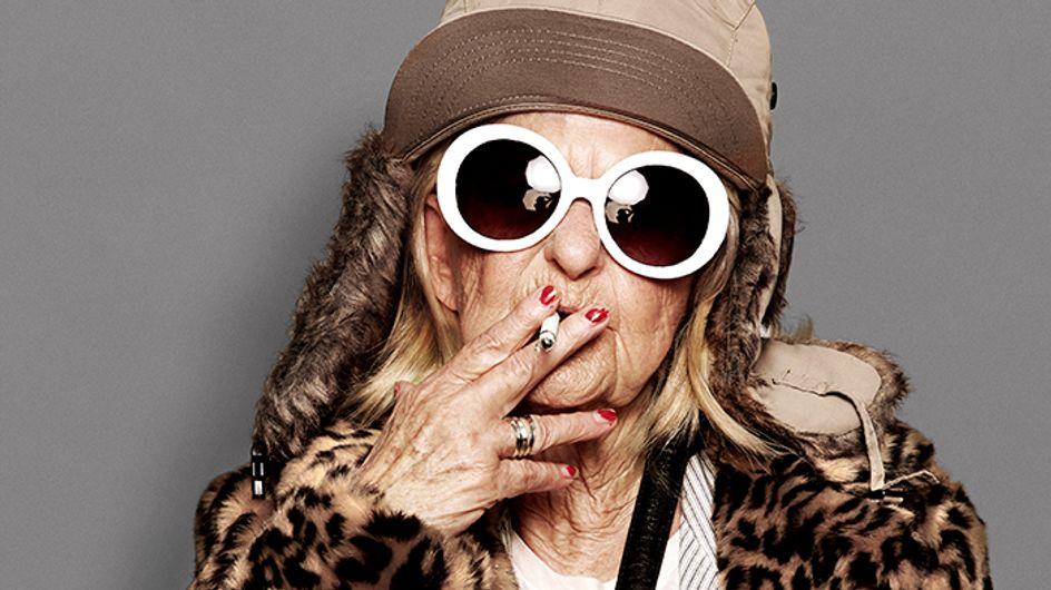 Quand la mamie la plus cool du web se prend pour Kate Moss et Kurt Cobain (Photos)