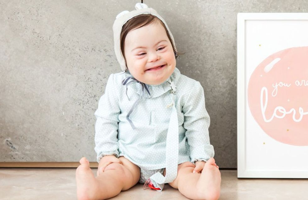 A 2 ans, cette fillette trisomique a été choisie comme mannequin par une marque espagnole