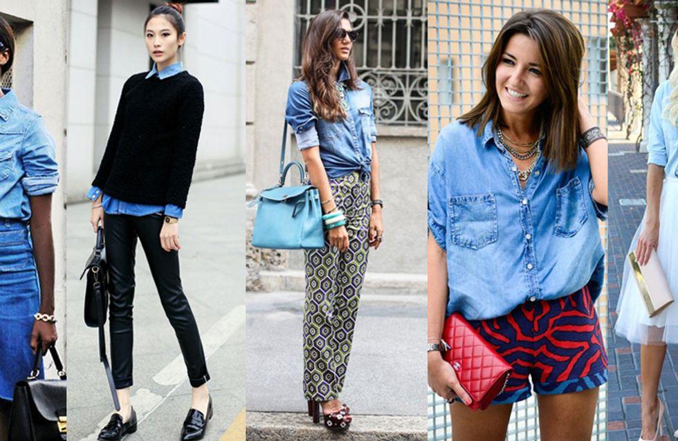 Come indossare la camicia di jeans? 5 abbinamenti per non sbagliare