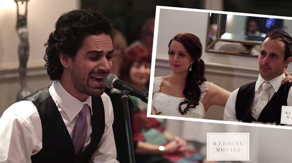 Unglaublich rührend: Trauzeuge singt seinem Bruder die wohl schönste Hochzeitsrede überhaupt
