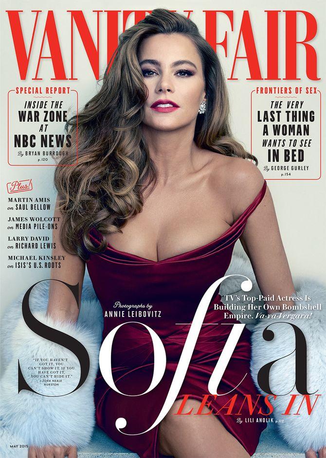 Sofia Vergara en couverture de Vanity Fair