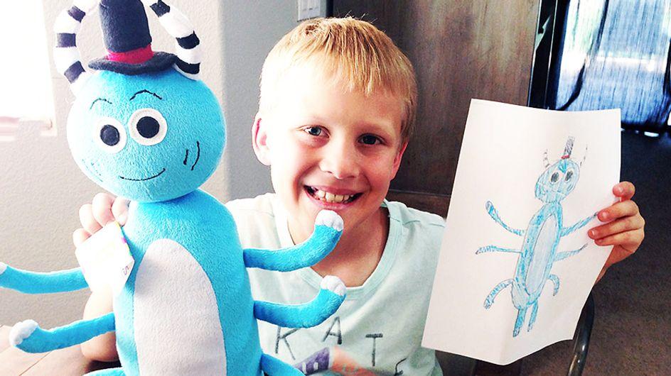 El mejor regalo nunca visto: ¡Dibujos de niños que se convierten en peluches reales!