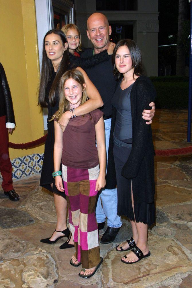 Rumer Willis en famille en 2001