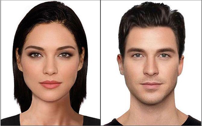 Portraits robots des visages les plus beaux