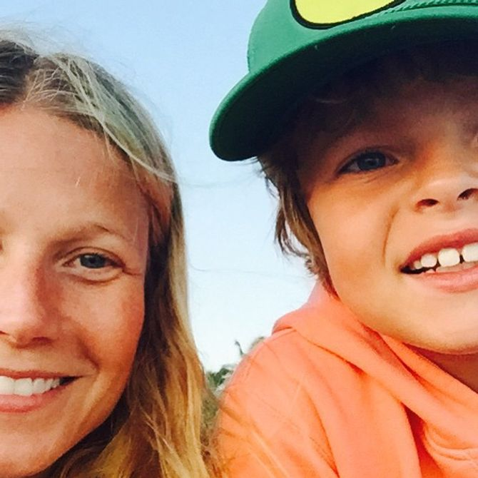 Gwyneth Paltrow et son fils Moses