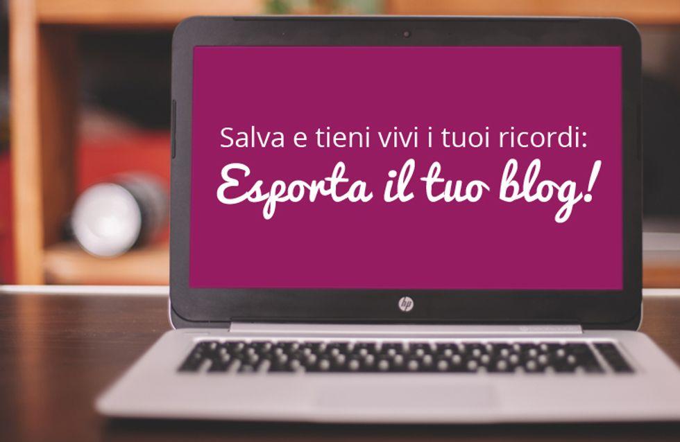 Avviso importante: i blog di alfemminile verranno trasferiti su WordPress. Esegui subito la procedura per salvare il tuo blog e non perdere i dati!