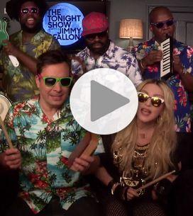 Madonna et Jimmy Fallon revisitent le tube Holiday avec des instruments pour e