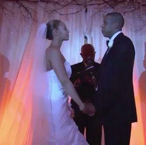 Jay Z et Beyoncé le jour de leur mariage