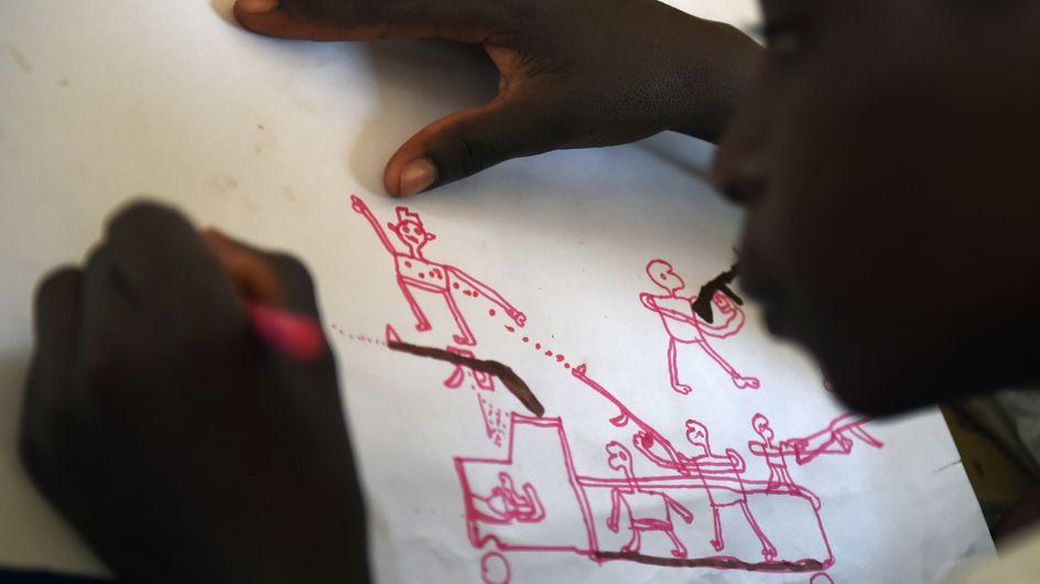 Ces dessins d'enfants témoignent de l'effroyable violence de Boko Haram