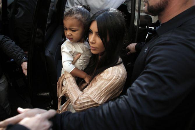 Kim Kardashian et North à Jérusalem