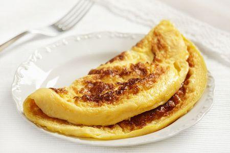 Une omelette pour le petit-déjeuner