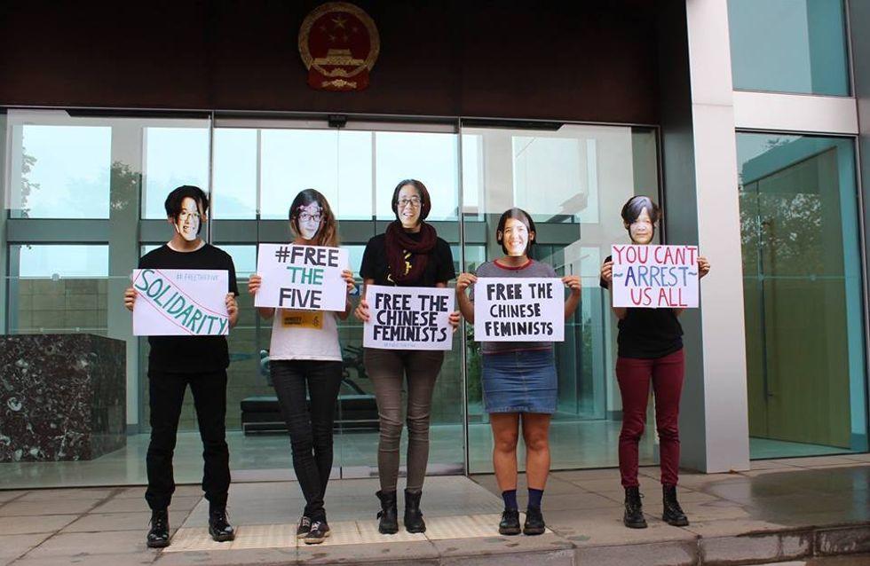 3 des 5 féministes chinoises arrêtées pour avoir lutté contre le harcèlement sexuel ont été libérées