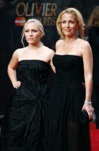Gillian Anderson et sa fille Piper Maru Klotz