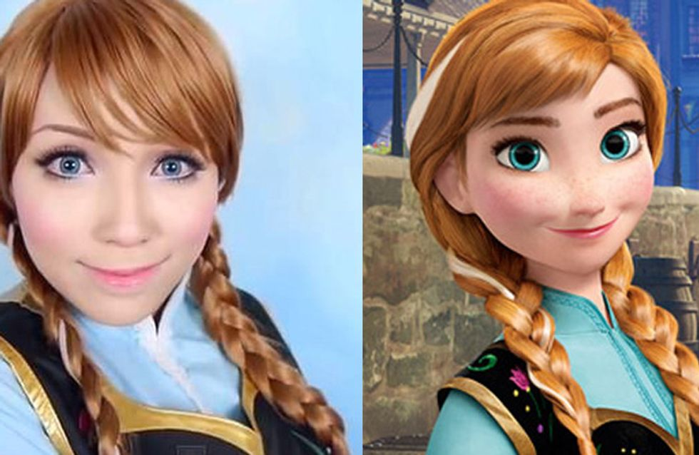 This Girl Looks Exactly Like Disney Characters After These Amazing Makeup Transformations