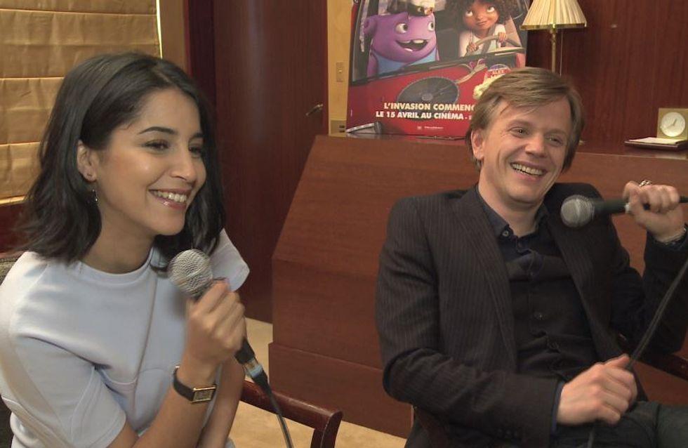 Alex Lutz et Leila Bekhti très complices lors d'une interview exclusive pour la sortie d'En route !