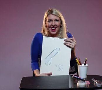 Frauen werden gebeten, ihren idealen Penis zu malen. Die Ergebnisse sind urkomis