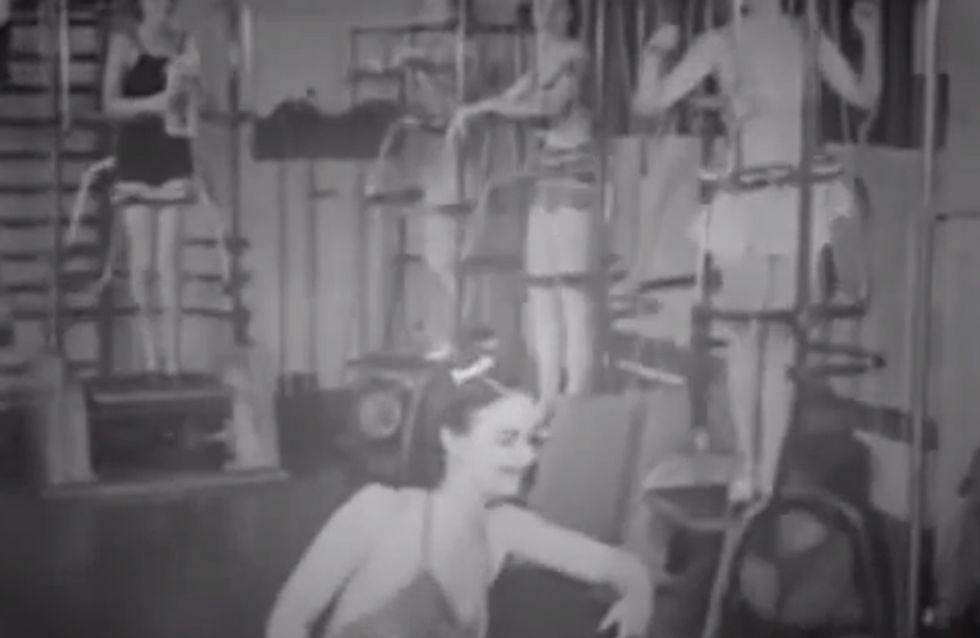 Video/ Mantenersi in forma negli anni '40 era molto più difficile! Guarda gli strani attrezzi che usavano!