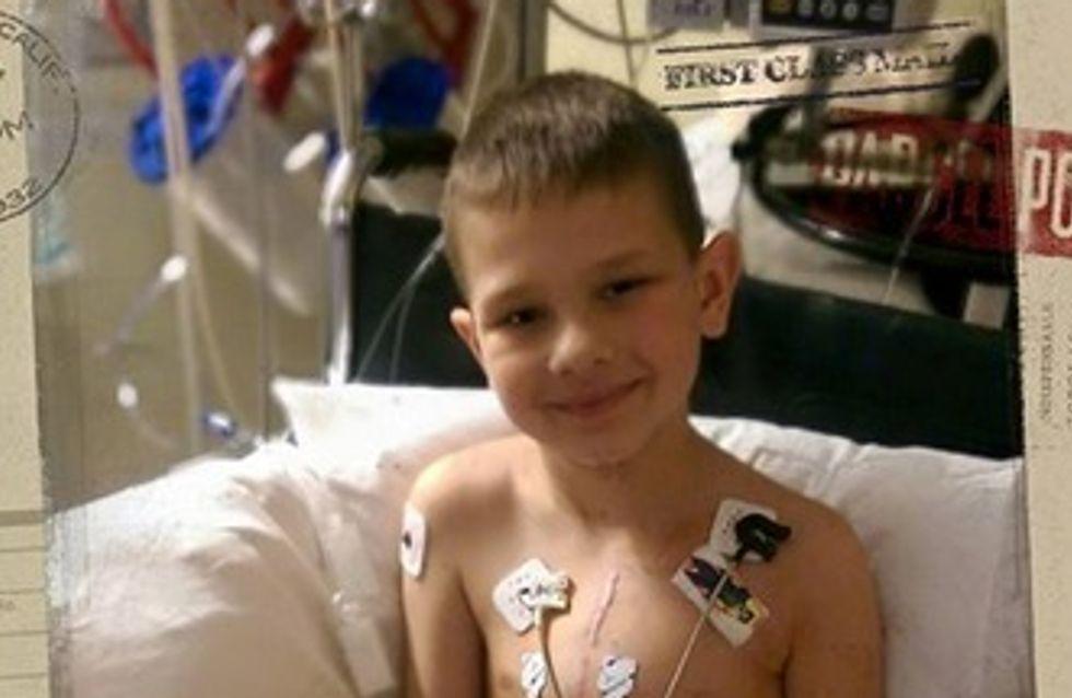 Un garçon de 7 ans atteint de malformation cardiaque émeut Facebook par ses cicatrices