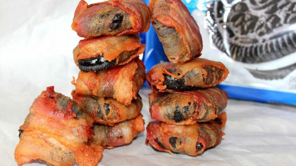 ¿Delicioso o asqueroso? Galletas Oreo envueltas en bacon frito