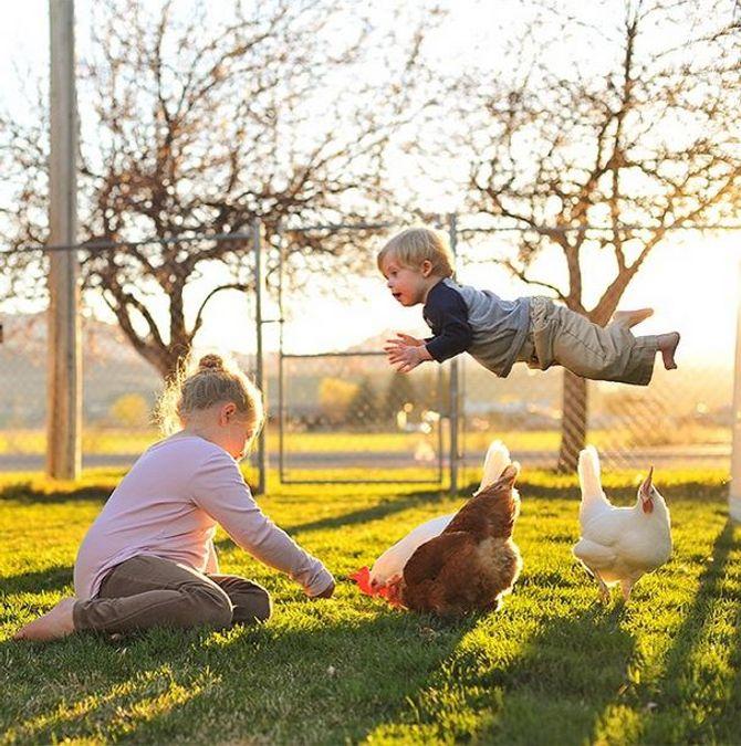 Ce papa fait voler son fils trisomique en photo